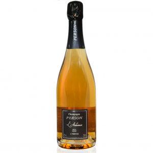 Biodynamische Rosé champagne | Premier Cru L'Audacieuse Rosé de Saignée van champagnehuis Person | Brouzje Champagne Shop